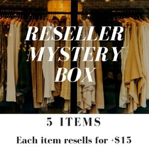 Reseller Fashion Mystery Box: 5 items